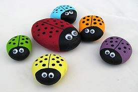 Turn Small Smooth Stones Into Colorful Ladybugs For Earth Day Rock